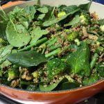 Warm Broccoli, Walnut and Quinoa Salad